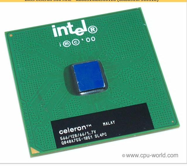 все цены на  Процессор Intel  Celeron 566/128/66 370 CPU SL5L5 SL4PC  онлайн