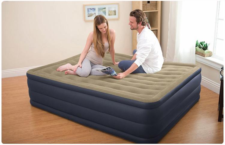 надувная кровать Intex кровать надувная односпальная intex prime comfort со встроенным насосом 220в 64444
