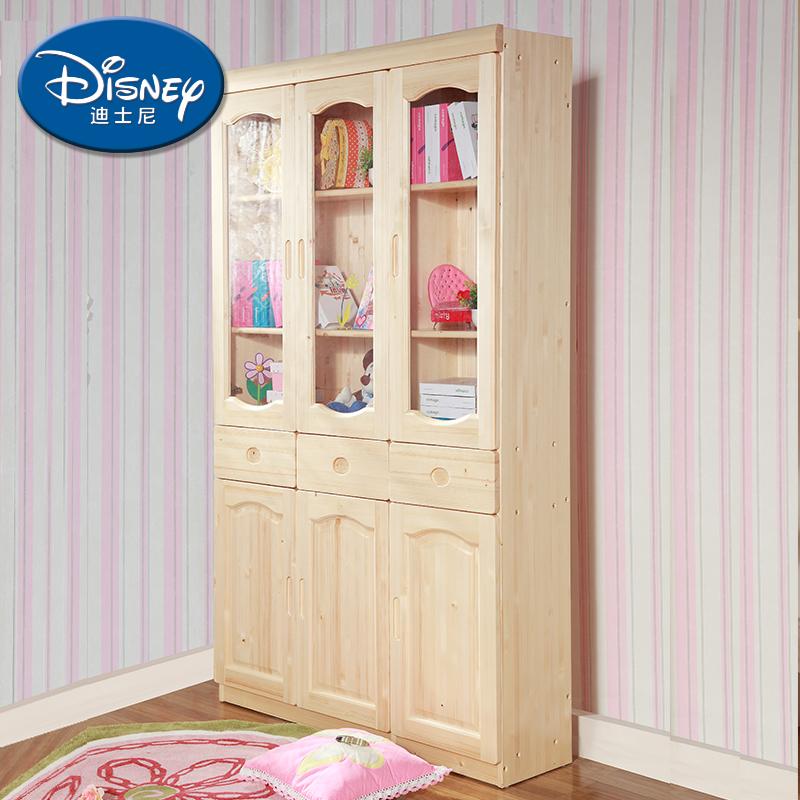酷漫居迪士尼实木儿童三门书柜