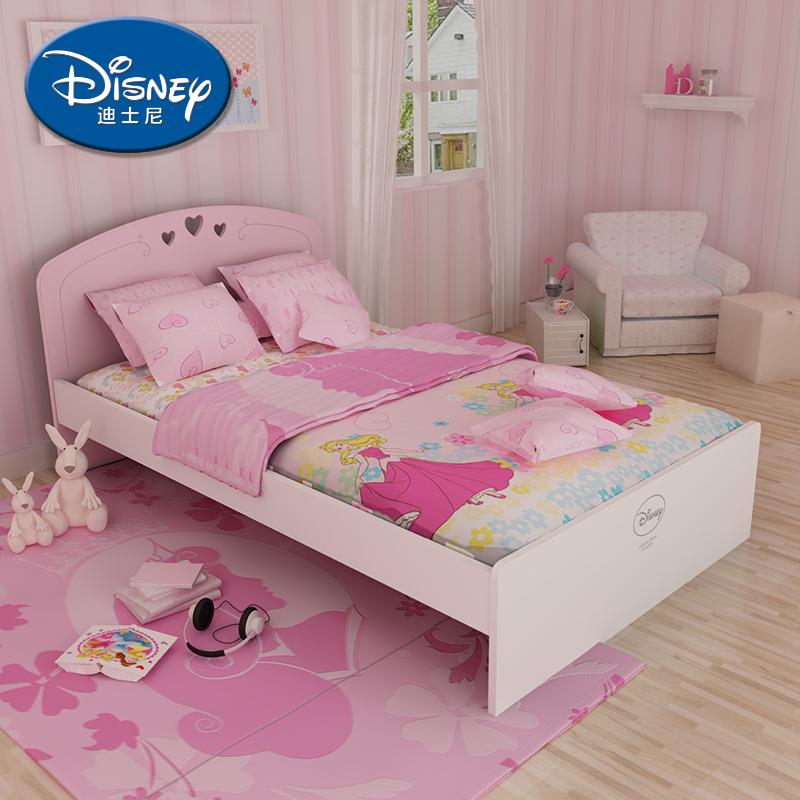 酷漫居迪士尼睡美人单人床 公主梦