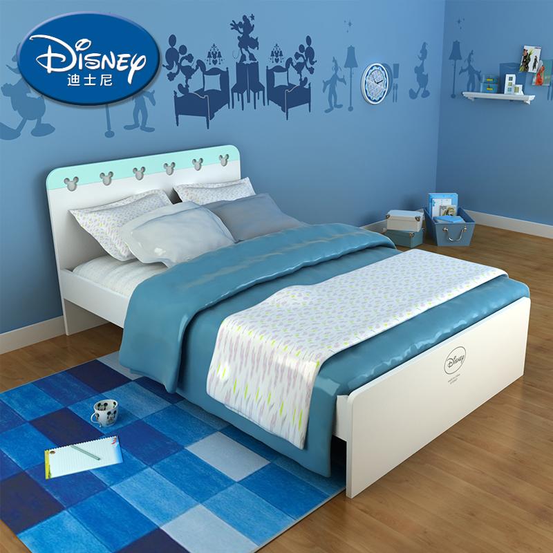 酷漫居迪士尼米奇儿童单人床