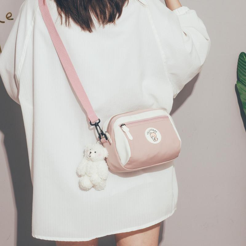 夏天上新小包包女2020新款潮韩版百搭斜挎包可爱少女单肩帆布包女