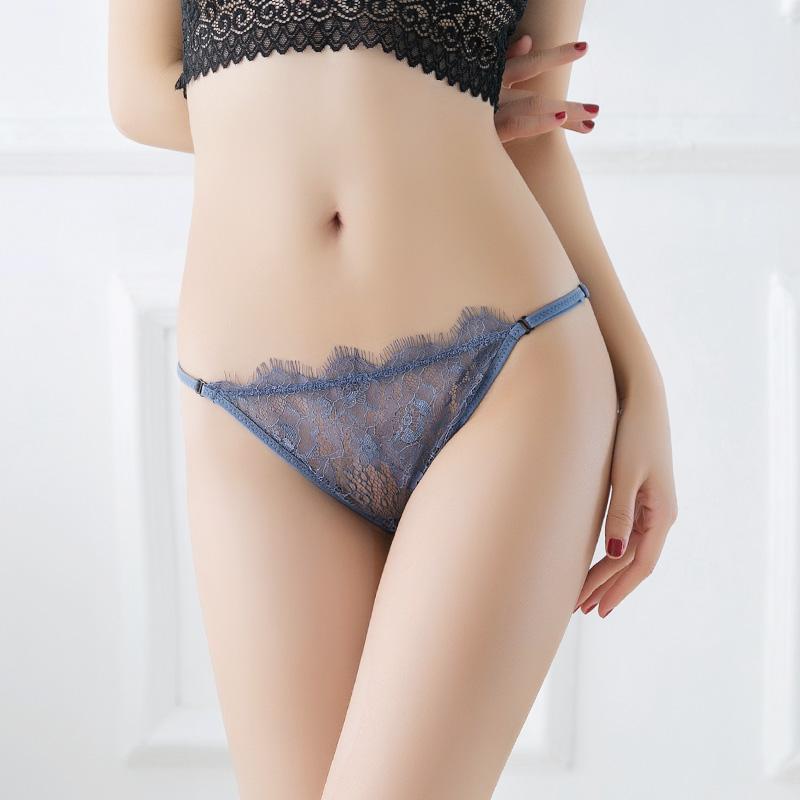 安致儿4条装内裤女性感低腰蕾丝女士无痕底裤夏季薄款透气三角裤
