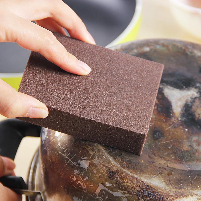 厨房纳米金刚砂海绵擦清洁去污魔术擦除铁锈细沙刷碗魔力擦锅工具