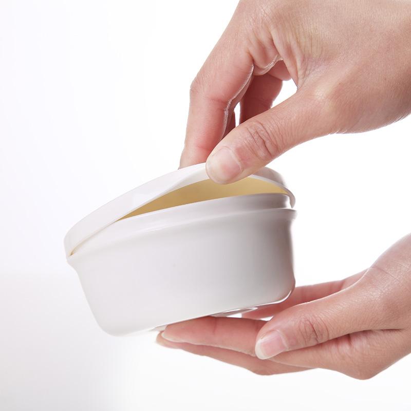 日本进口inomata便携旅行皂盒双层沥水香皂盒带盖密封防漏肥皂盒