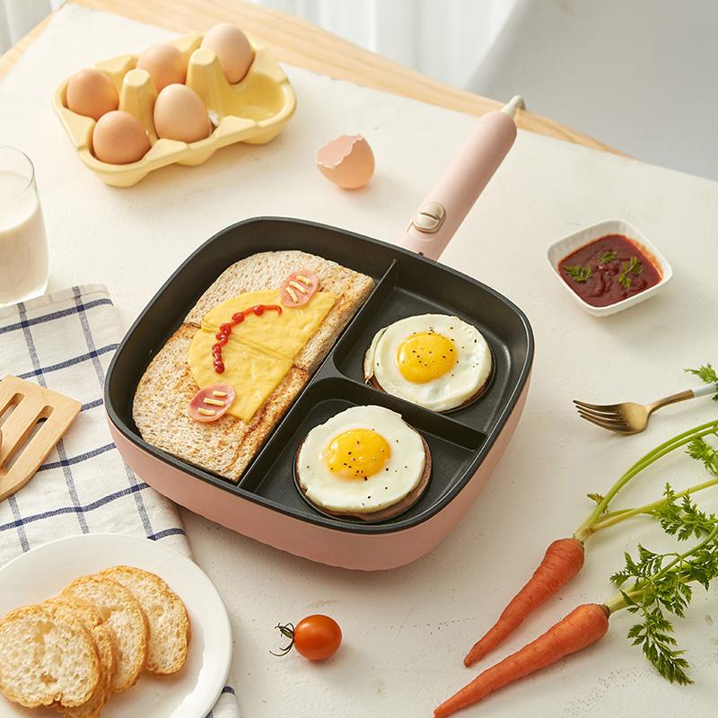 小熊电饼铛家用电煎锅多功能烙饼牛排煎鸡蛋早餐不粘机锅烙饼神器
