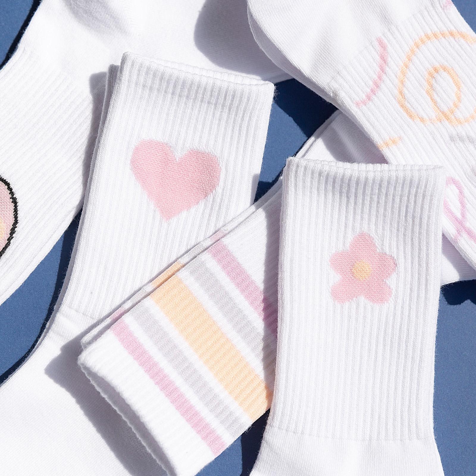 白色长袜子女中筒袜ins潮网红款韩国日系可爱纯棉夏天春夏季薄款