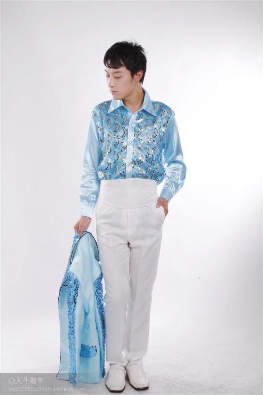 Рубашка мужская Hainan men's dress 4533435435345