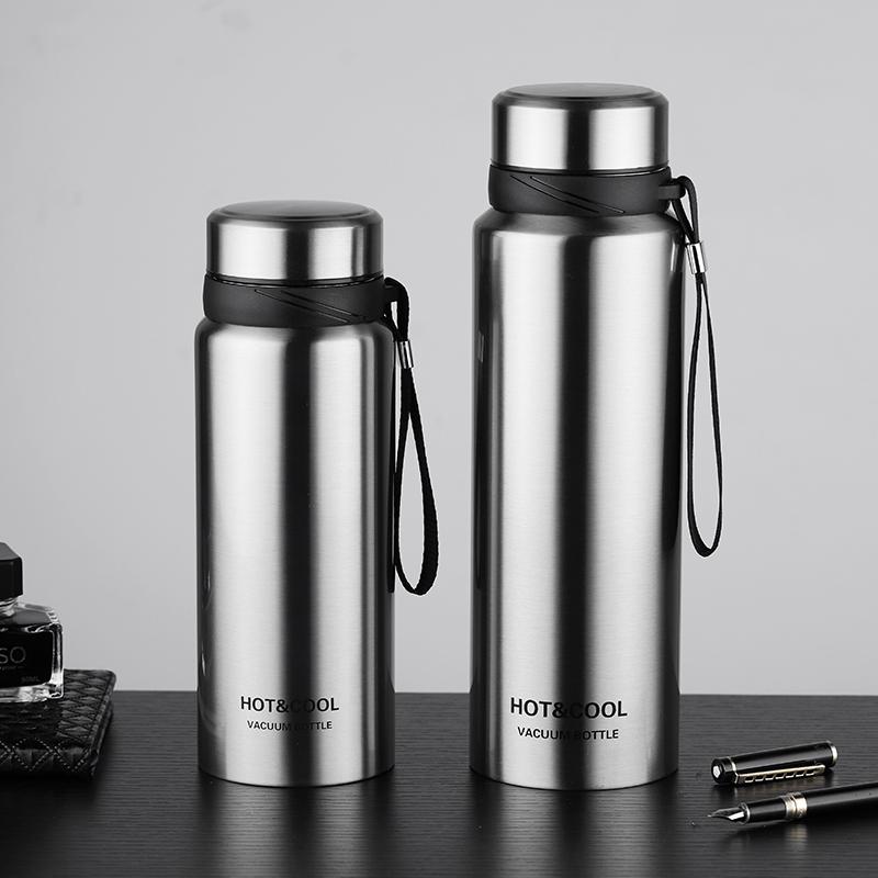 304不锈钢保温水杯男户外便携大号泡茶杯带过滤网大容量水壶杯子