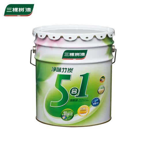 三棵树乳胶漆净味竹炭除醛5合1