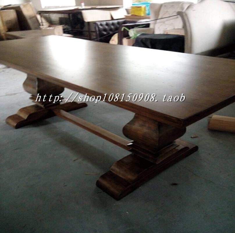 Стол обеденный Специальные старинные старые американские страны таблицы европейских таблицы сочетание обеденный стол твердых древесины обеденный стол с французской обеденный стол стулья