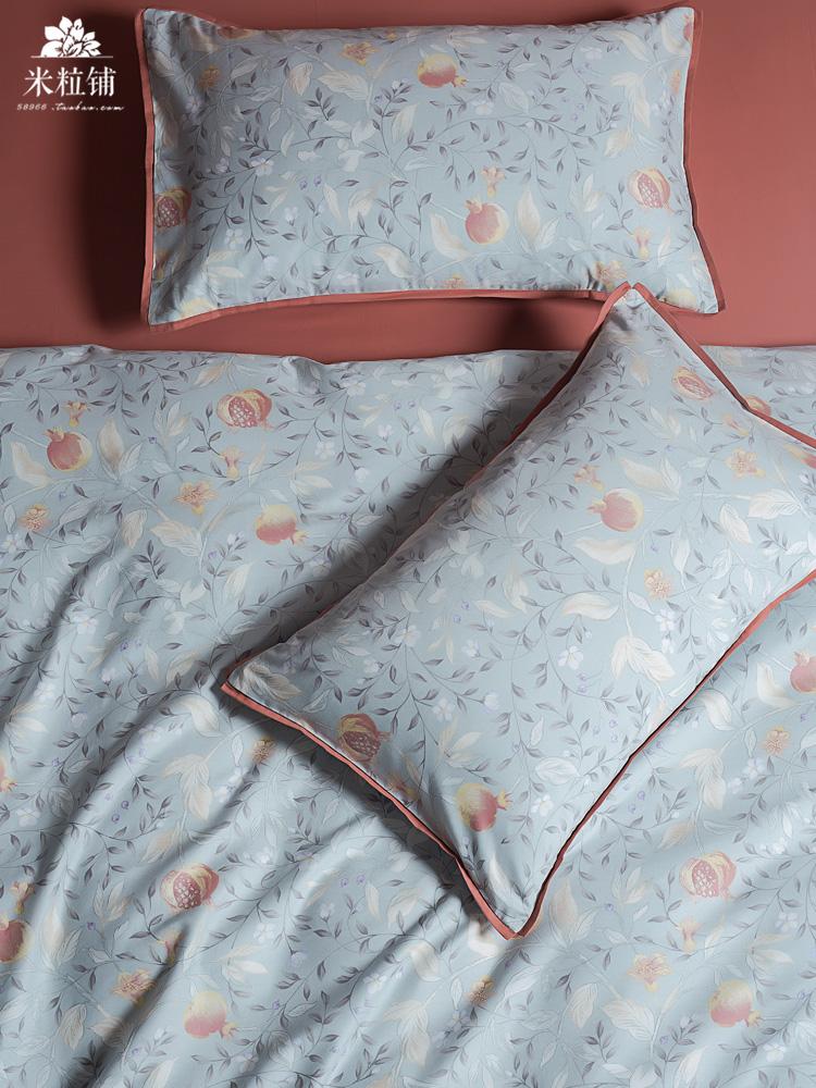 轻奢长绒棉四件套 全棉纯棉田园磨毛保暖被套床单床上用品带边款