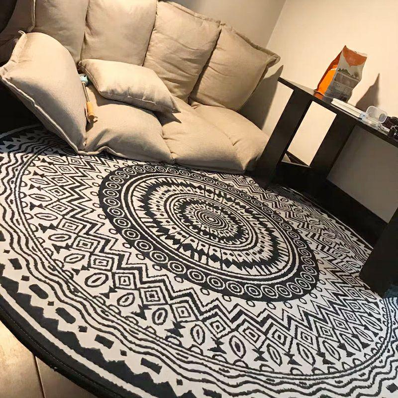 圆形地毯客厅卧室民族风沙发茶几毯摩洛哥毯垫新款吊篮电脑椅地垫