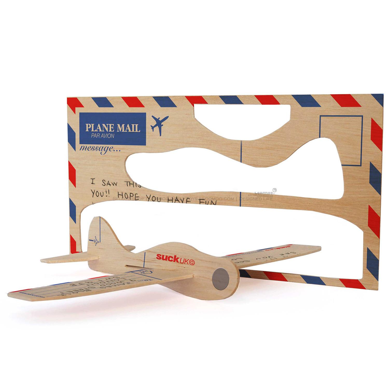 Поздравительная открытка Suck UK  LOOMOO Postcard Aeroplane гаджет suck uk sk musicrule1 музыкальная линейка