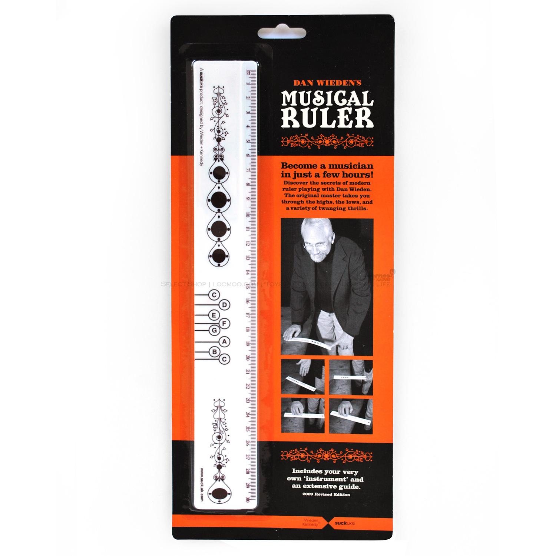 оригинальный подарок Suck UK  Musical Ruler гаджет suck uk sk musicrule1 музыкальная линейка