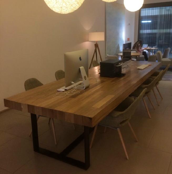 Конференц стол Американские железа Винтаж твердой древесины обеденные столы и стулья носить кофе-бар обеденный стол конференции Таблица Настольный