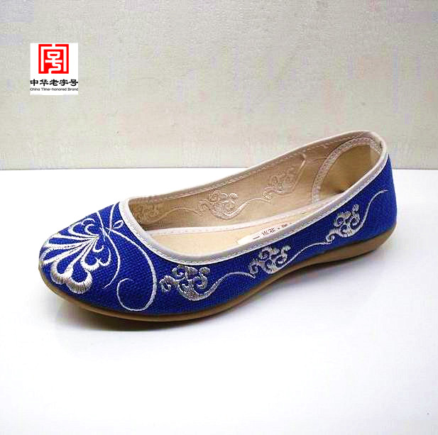 туфли Old Beijing cloth shoes vintage embroidery women flats chinese floral canvas embroidered shoes national old beijing cloth single dance soft flats