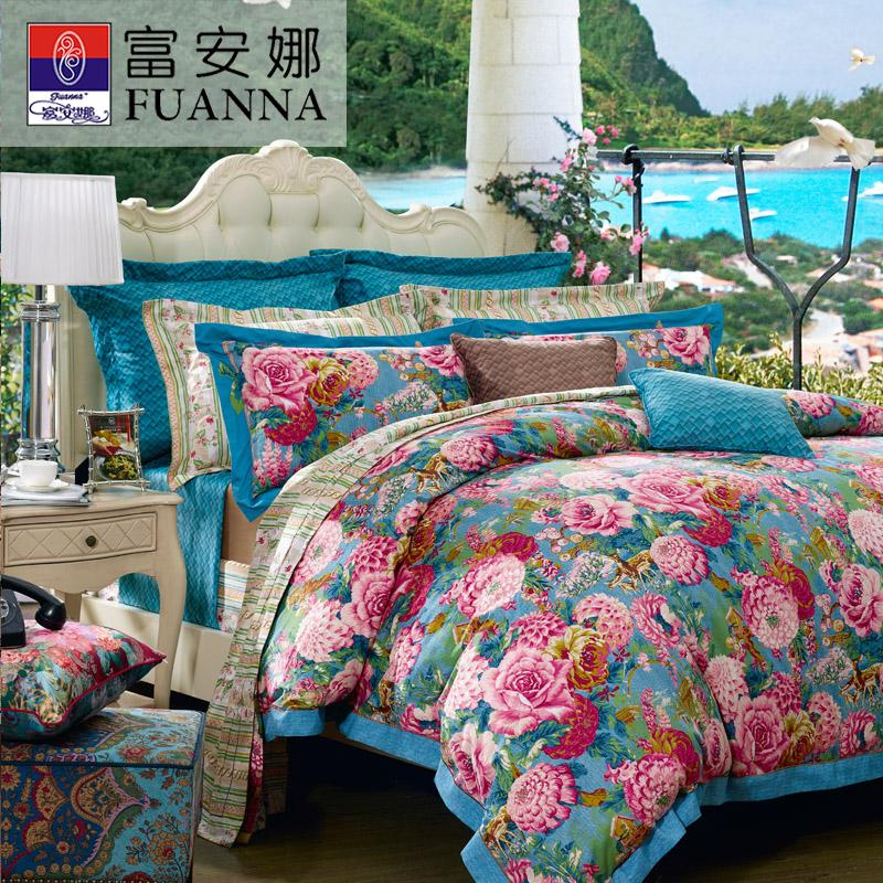 富安娜家纺纯棉床单4件套811001852