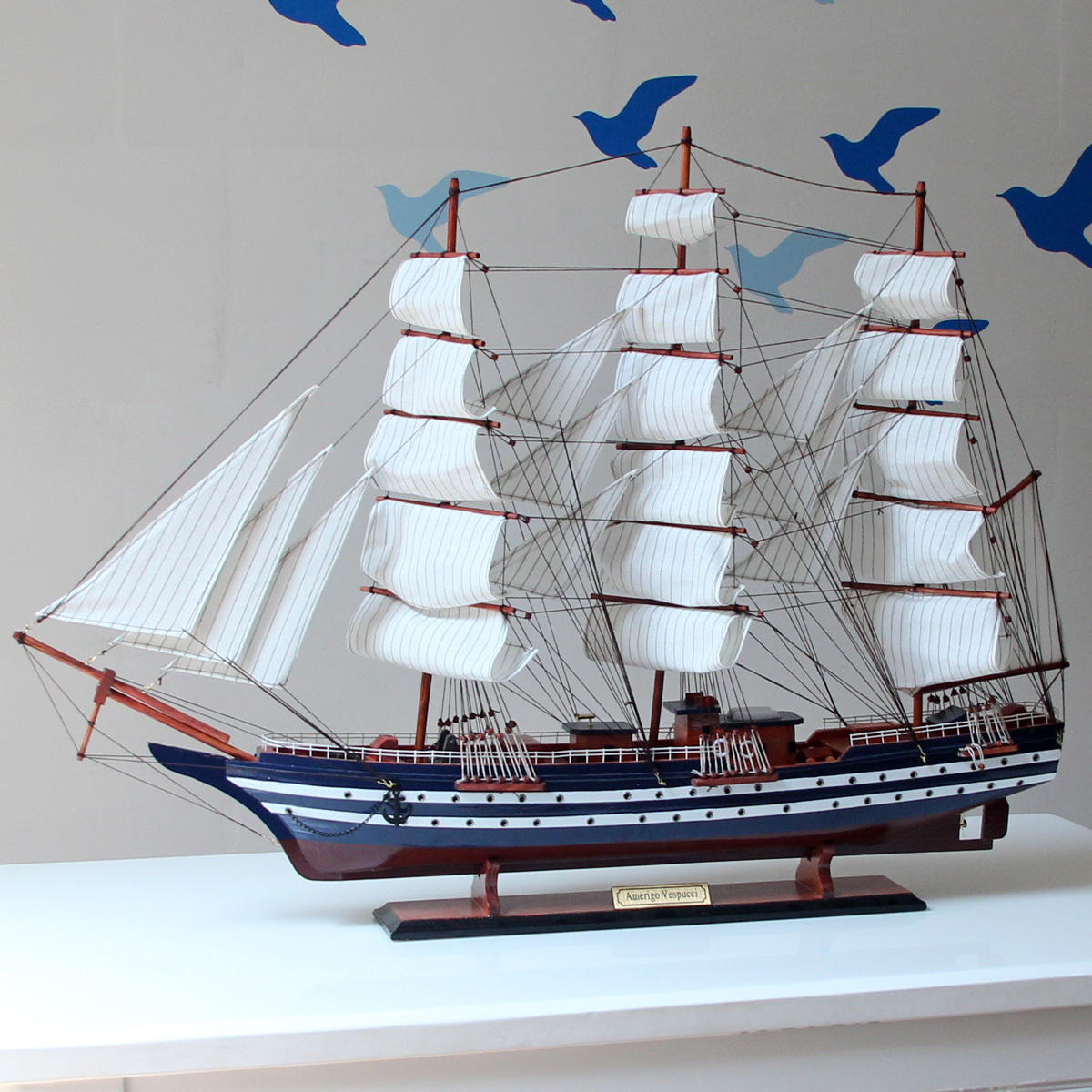 Декоративный корабль Mettle mt002/100 100cm zipower pm 5139