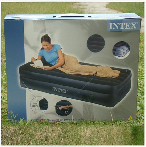 надувная кровать   INTEX 66721 надувная кровать intex ultra plush bed 152х203х46см 64458