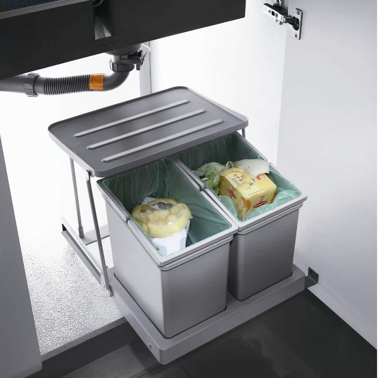 欧派大容量水槽垃圾桶OP-WT008