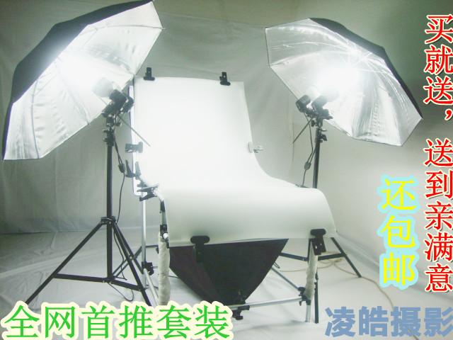 Фото столы Сети первоначальный фотографическое оборудование Натюрморт выстрел сдвоенными лампами отражательная зонтик фотографии супер свет лампы двойной набор
