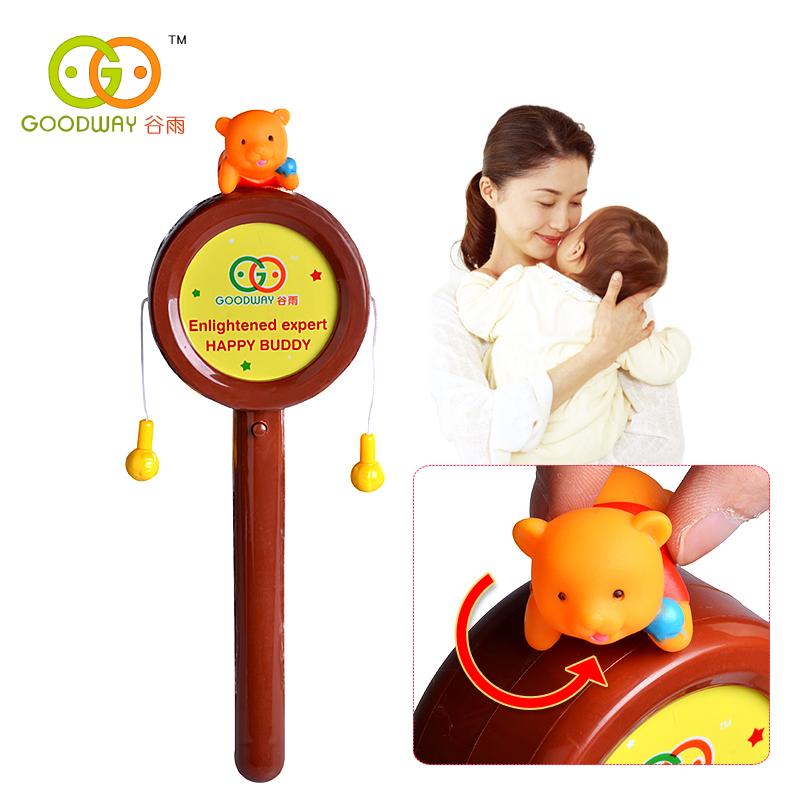Погремушка-барабанчик ГУ Ю детские мультфильм флэш-погремушка слуха система обучения 8624 младенческой раннего образования Детские игрушки для детей