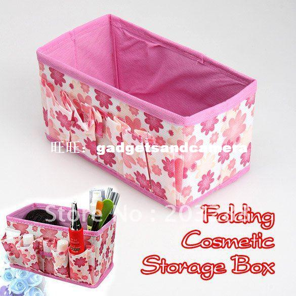Fashion Make Up Cosmetic Storage Box Container Bag Case Stuf miles kimball flour bag plastic storage container