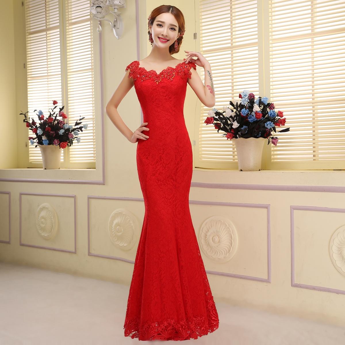 Фото платье рыбка красное