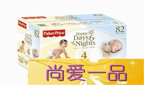 Бижутерия   Fisher-Price Happy Days Happy Nights Baby Diapers детское автокресло happy baby skyler blue