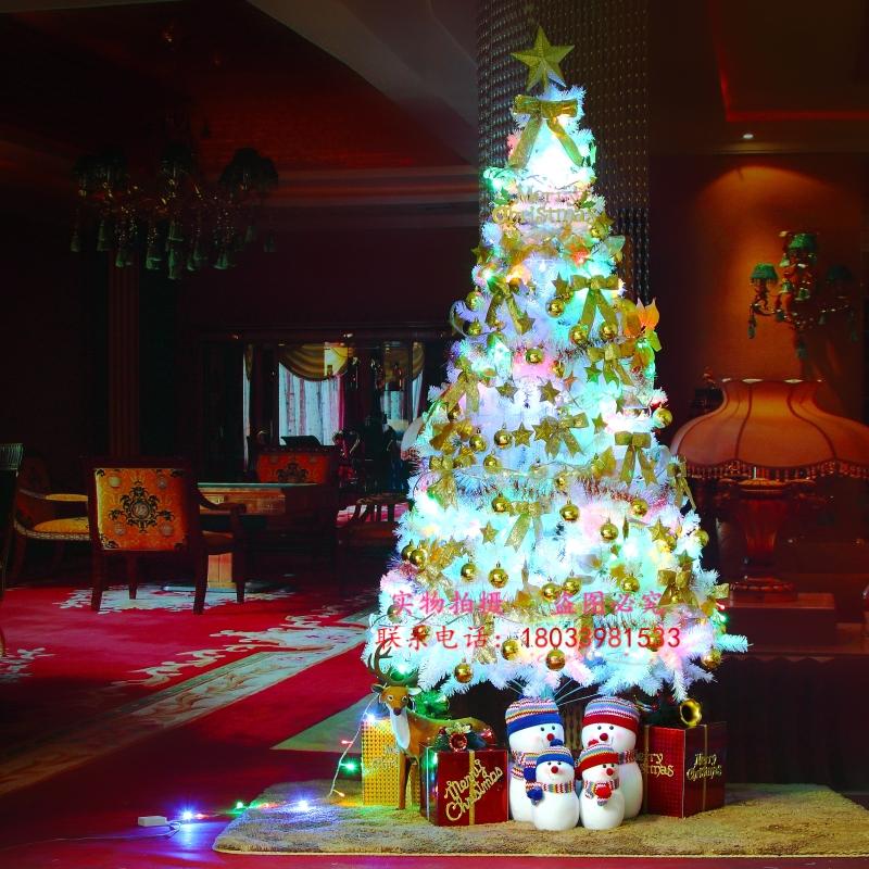 искусственная елка Почта фабрика прямое шифрование Белые елки 1.5 m Рождественская елка пакеты Рождество одеваются