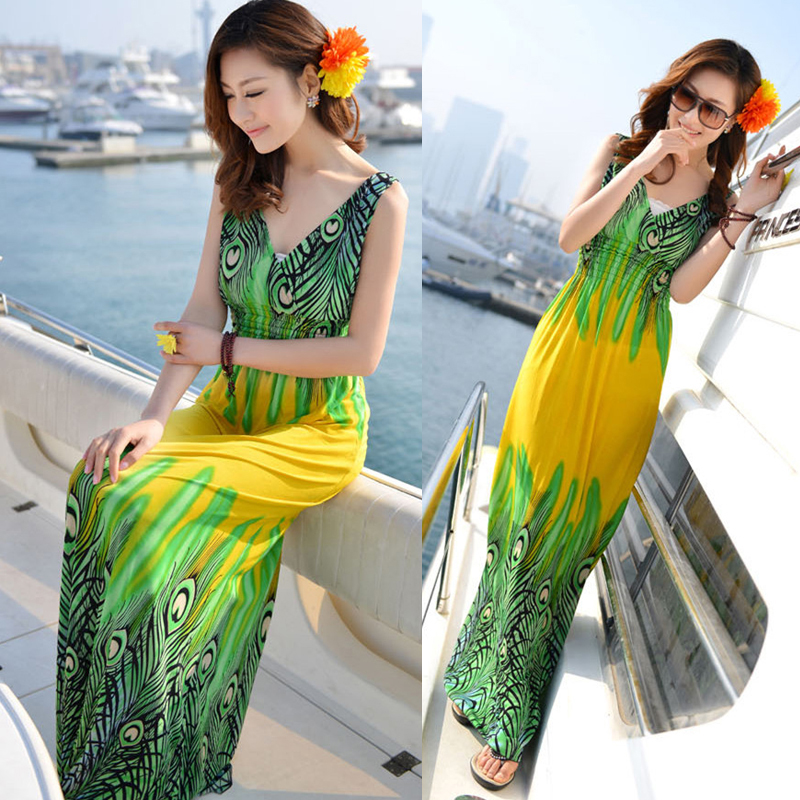 Женское платье  1193 2015 Summer Women Neck Sexy Long Dress Beach Mini Dresses женское платье bohemian i women summer beach dress 2015 o vestidos w0014