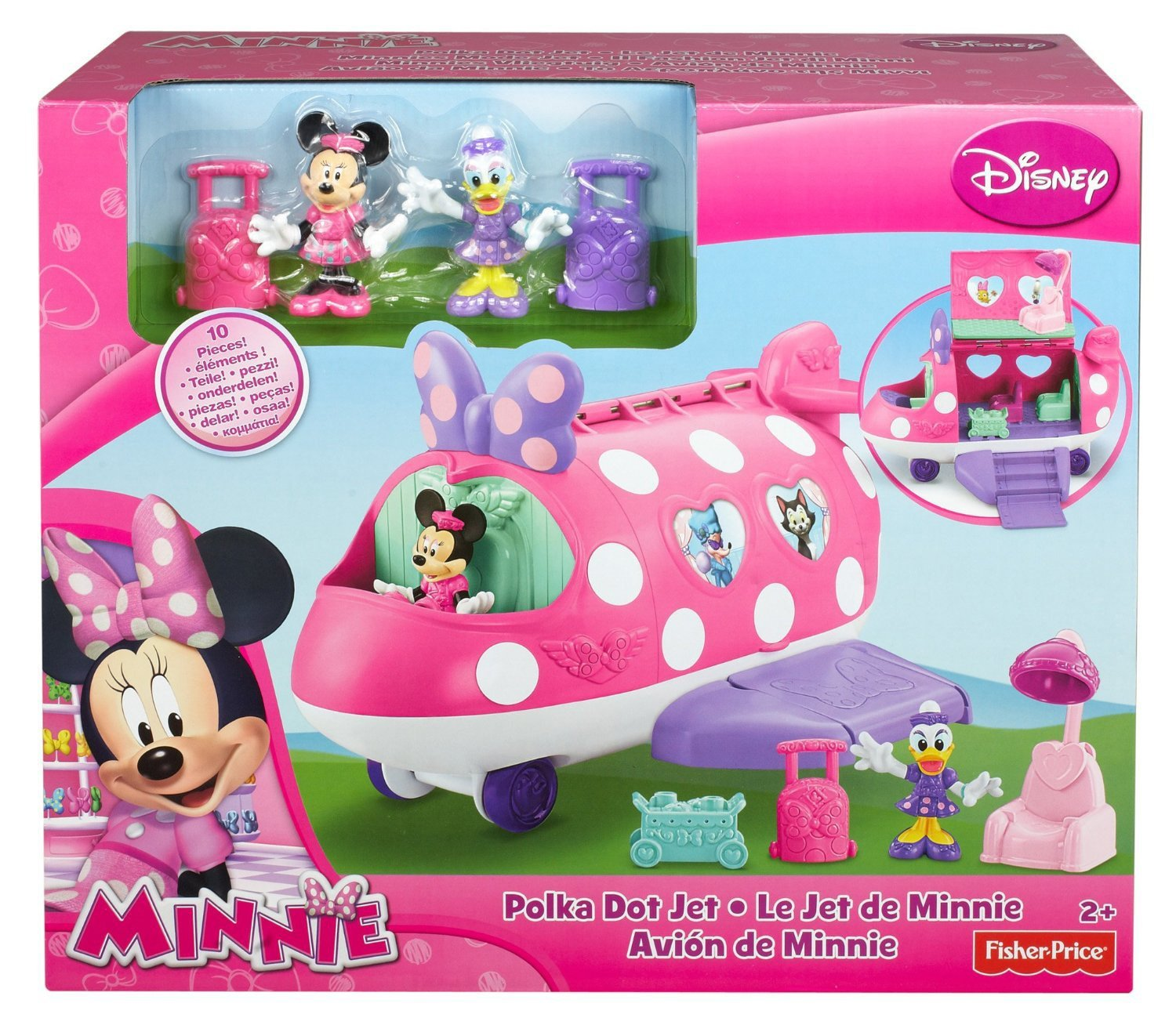 Игрушка Fisher/price  Fisher Price Minnie Bowtique Polka Dot Jet детская пирамидка fisher price k7166 fisher price