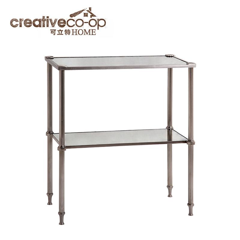 可立特 双层金属配镜子置物桌DE4761