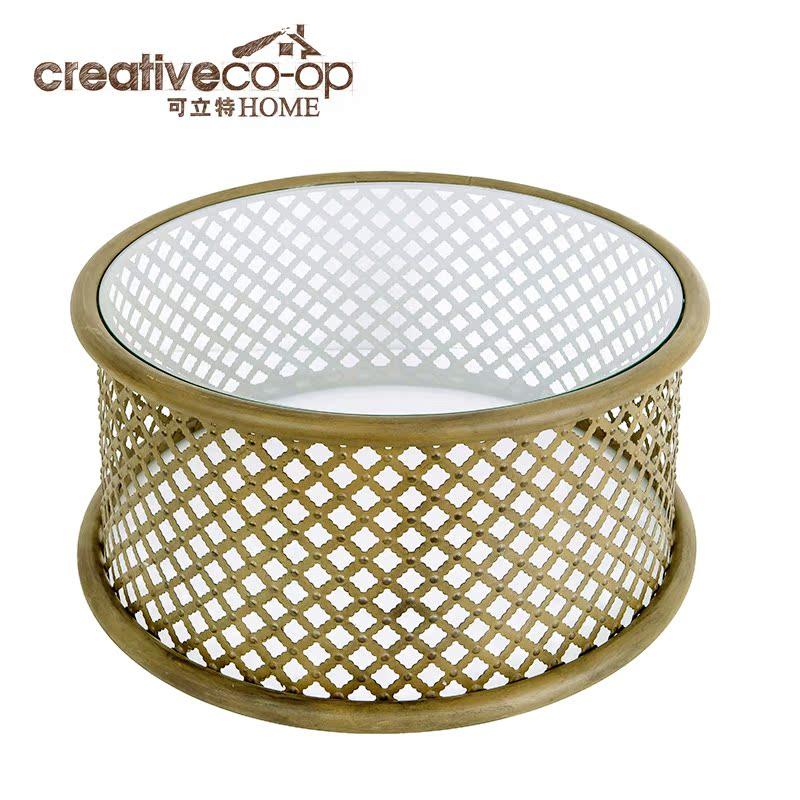 可立特  古铜色金属网格设计咖啡桌DF0082