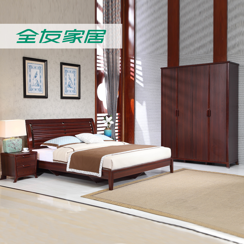 全友家居中式组合卧室121201