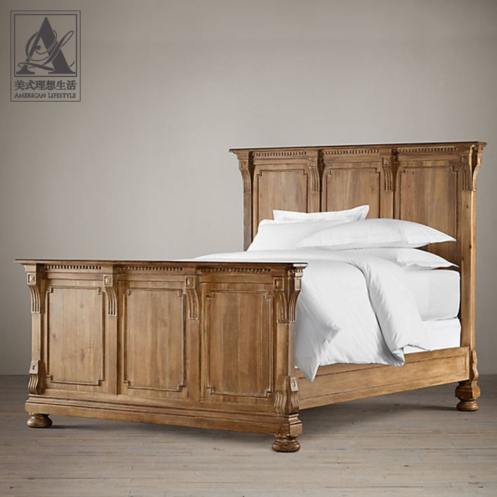 Кровать из массива дерева American lifestyle кровать из массива дерева xuan elegance furniture