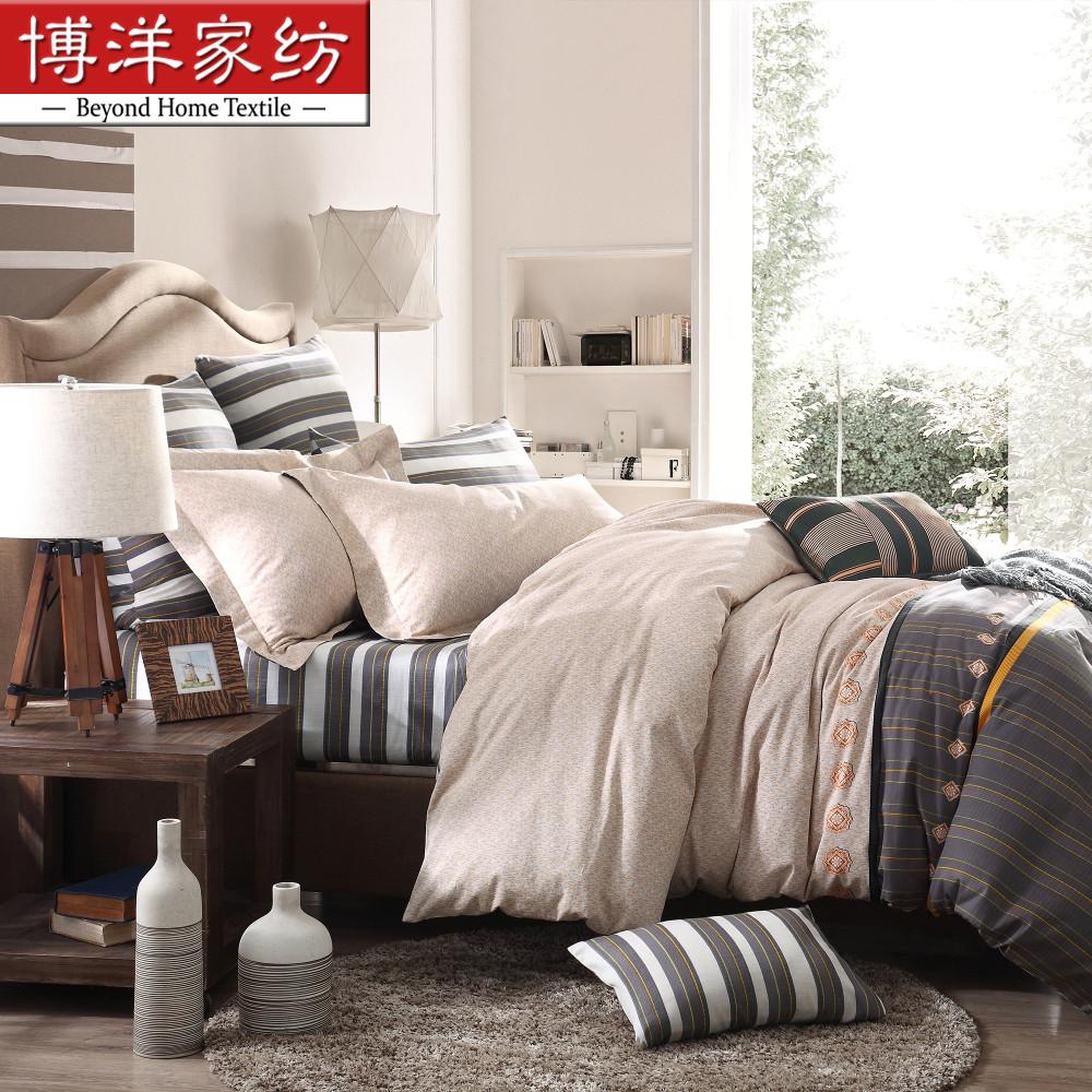 博洋家纺纯棉缎纹印花床单四件套W91404070137