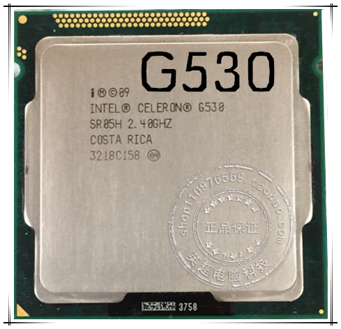 Процессор Intel  Celeron G530 2.4G 1155 Cpu G540 G550 адаптер dell intel ethernet i350 1gb 4p 540 bbhf