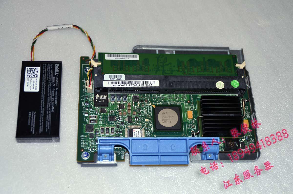RAID-контроллер Jianbang  DELL 5I SAS SATA RAID5 256M WX072 raid 0 3л