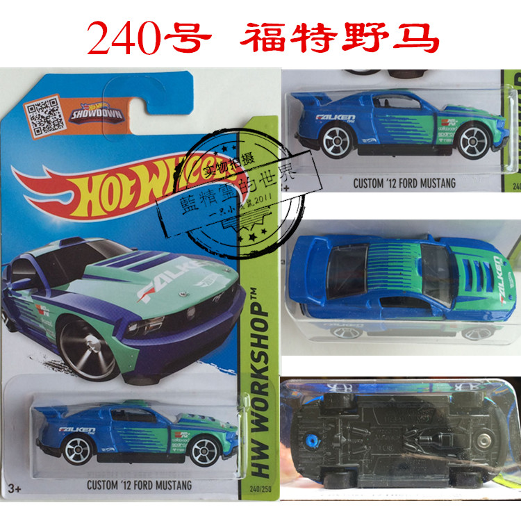 Модель машины Hot wheels  5J Hotwheels CUSTOM 12 FORD MUSTANG240 напольная акустика tannoy westminster royal gr walnut