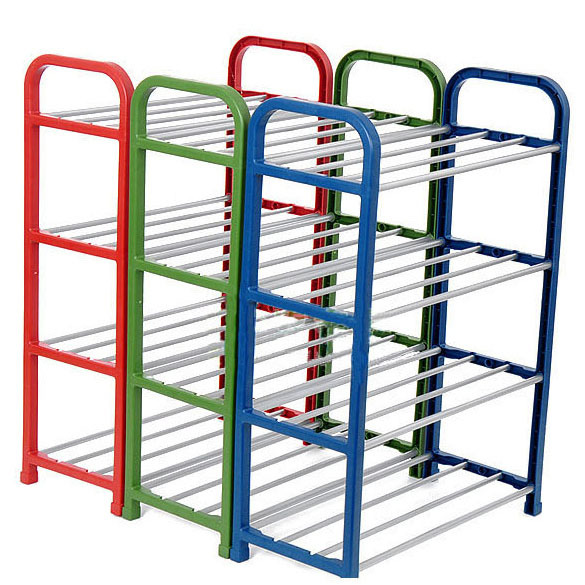 Полка для обуви Combination of simple magic four/tier shoe rack m middot h middot j 40s the simple shoe 10 combination cotton made shoes cabinet