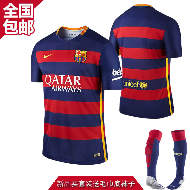 Футбольная форма Barcelona 15/16 home 15-16 10 11 soccer shirt uniforms 3a 15 16 15 16 argentina home away football shirt