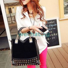 Переключатель Fashion Lady Handbags Solid Rivet