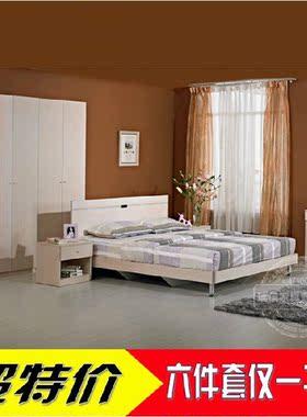 欧式实木家具套装实木床衣柜梳妆台组合成套家具卧室