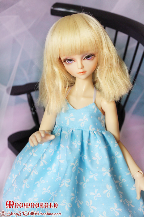 Кукла BJD 1/4BJD DZ/AS/MSD/soom/dk/dim [wamami] 20 white straight long wig for 1 4 msd dz dod bjd dollfie 6 7