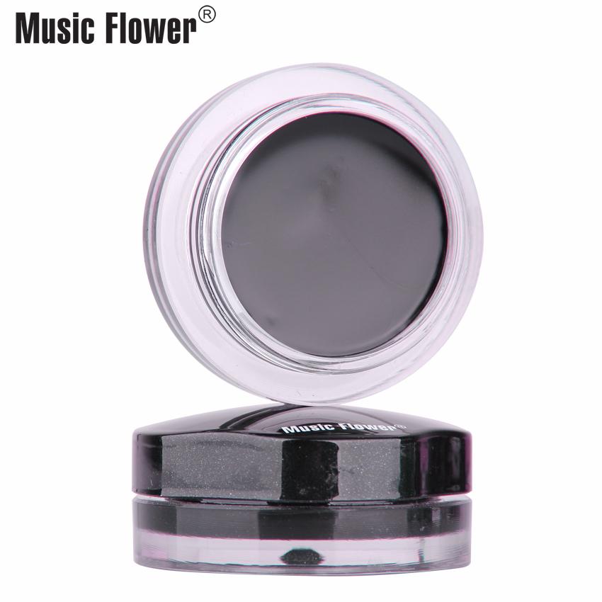 音乐花双色眼线膏防水不晕染 眼线液笔 易延展 正品包邮4.5g*2瓶