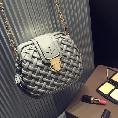 小包包2015新款夏复古锁扣编织菱格链条医生包单肩包女包斜挎包潮