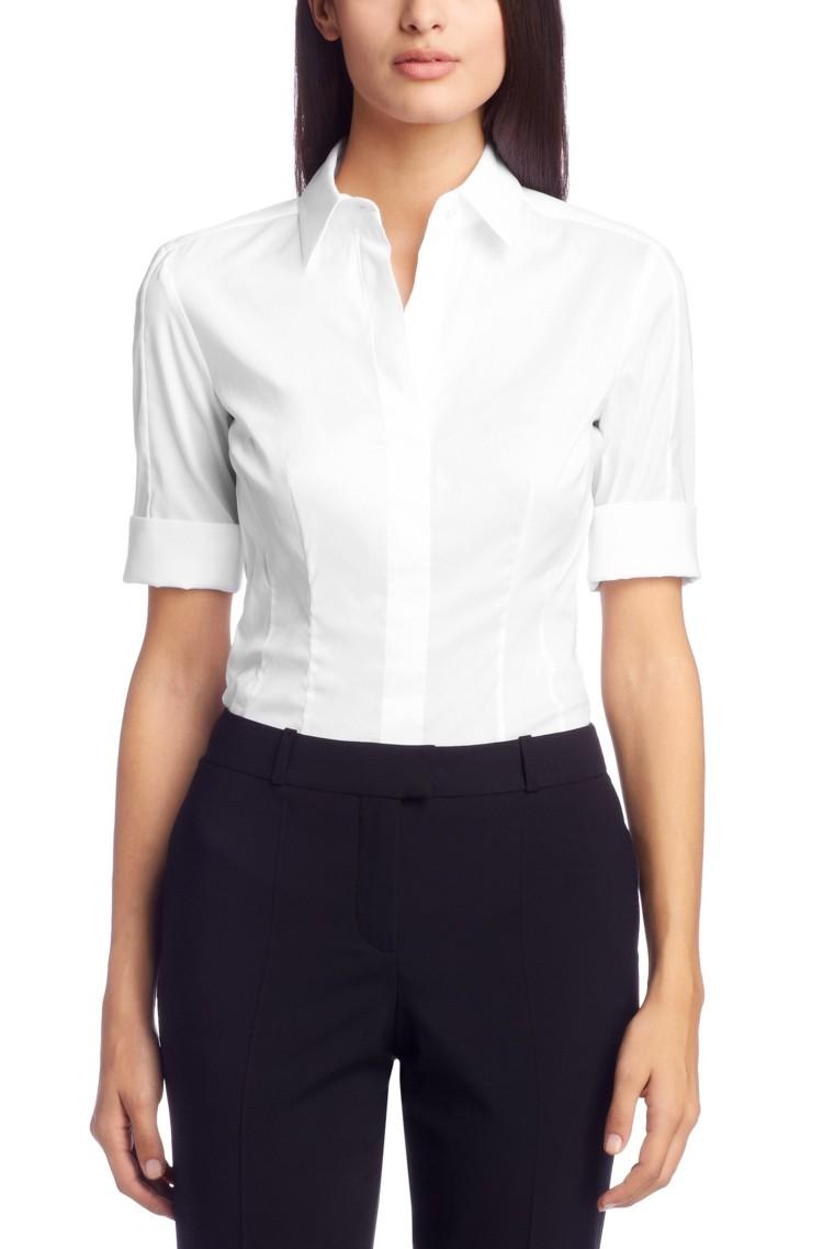 женская рубашка Hugo Boss 50240834 14 рубашка boss hugo boss boss hugo boss bo246emssc11
