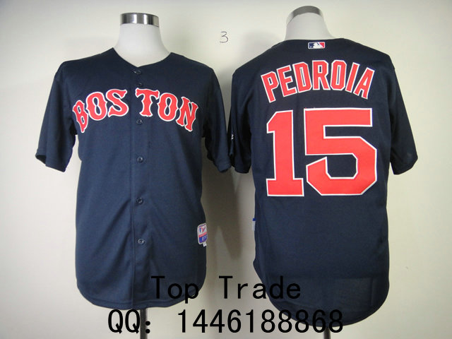 Форма для регби Baseball uniform  MLB Boston Red Sox #15 Pedroia Jersey форма для регби padres 18 carlos quentin baseball mlb jersey